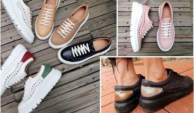 【倆個人】牛皮輕量MODO厚底編織麻花辮休閒運動鞋