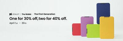 ZENLET The Wallet|One for 30% off, two for 40% off.
