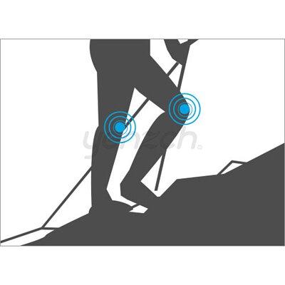 使用登山杖的好處:支撐減緩壓力