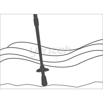 使用登山杖的好處:探測使用