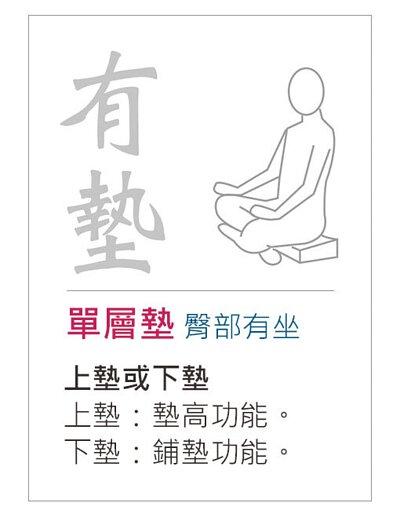 打坐單層墊-臀部有坐