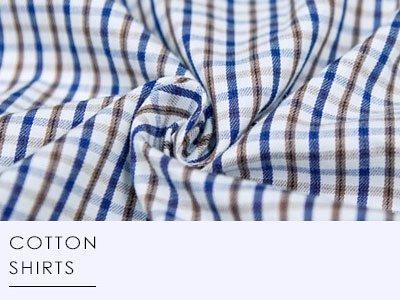 衣十五商務襯衫│棉質襯衫,提供襯衫透氣度以及挺度,以每英吋12-14針,媲美訂製襯衫品質