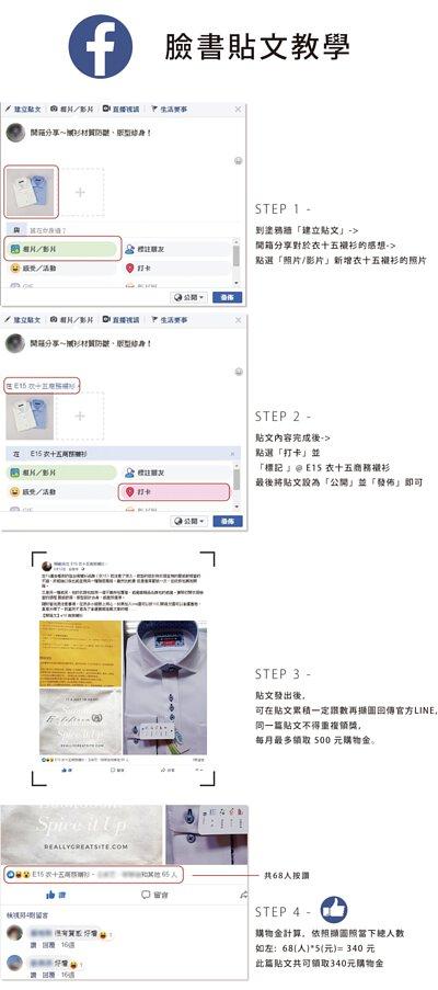 衣十五商務襯衫的FB貼文分享說明