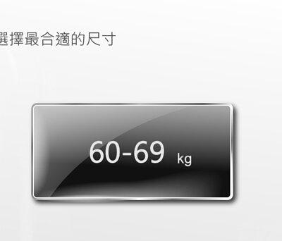 身高180至184公分,體重60至69公斤,尺寸建議表