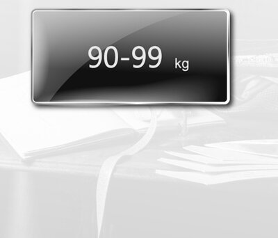 身高170至174公分,體重90至99公斤,尺寸建議表
