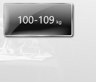 身高175至179公分,體重100至109公斤,尺寸建議表