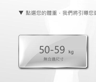 身高185至189公分,體重50至59公斤,無合適尺寸