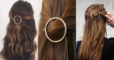 公主頭,金屬扣夾,金屬髮夾