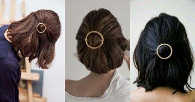 短髮造型,短髮,公主頭,金屬髮夾