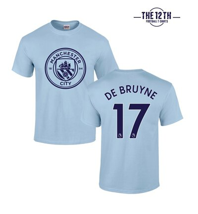 new products 70a59 9acf4 12th-tee] Manchester City 2017-18 De Bruyne T-Shirt