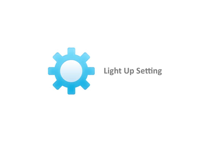light up case setting