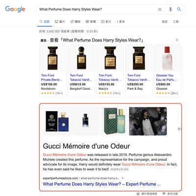 精選摘要範例:What Perfume
