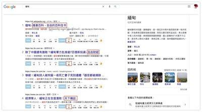 維基百科、知名網站、新聞媒體容易取得好排名