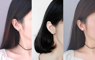 925純銀貓咪耳環