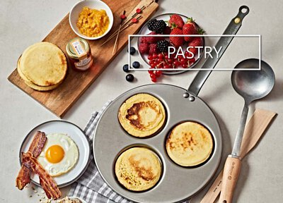 de Buyer pastry pans and frypans