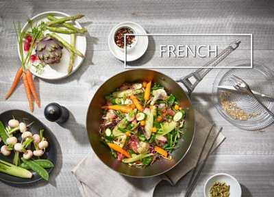 De Buyer iron and stainless steel cookware French collections