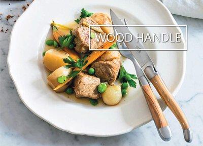 Precious wood Laguiole and Thiers steak knives by Forge de Laguiole and Claude Dozorme