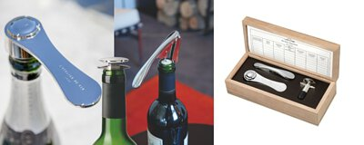 "ATELIER DU VIN Mini Collector | gift wood box design corkscrew ""Garcon"" + silver wine stopper ""Model 54"" + Champagne Opener"