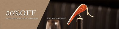 stock clearance soft machine rosewood and ebony wood handle