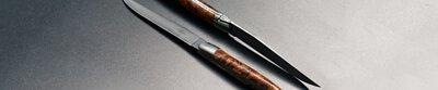 Forge de Laguiole,Laguiole,handmade,steak knife,table knife,wood,precious woods,Claude Dozorme,France,cutlery,bee,forged,spri