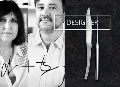 P. Starck, A. Putman, J.M. Wilmotte and other acclaimed designers created modern lines of the traditional Laguiole knives