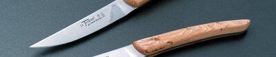 Claude Dozorme,Laguiole,handmade,steak knife,table,horn,wood,precious woods,France,cutlery,Thiers,dishwasher safe,Thomas Bast