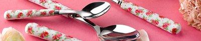 Sabre Paris,Tableware,Tableware knife, fork, spoon, serving accessories, kitchen accessories, 餐刀,餐叉,咖啡匙,茶匙,點心叉,牛排刀,刀,叉,匙,紅色,粉