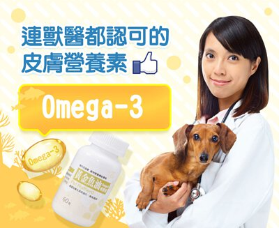魚油中的Omega-3是連獸醫都認可的皮膚營養素