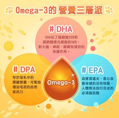 寵物魚油Omega3中的DHA、DPA、EPA對眼睛、大腦、皮膚都很重要