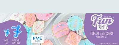 PME Fun Fonts - Cupcake & Cookie Stamping Set