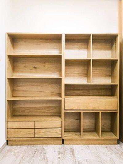 美國全實木-訂造白橡木書櫃