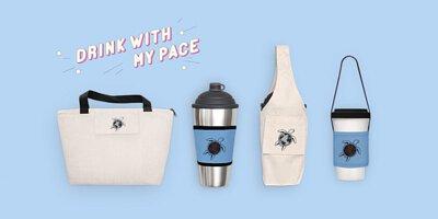 客製環保袋、環保飲料提袋、杯套,印刷專屬文字或圖案