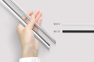 可拆式不鏽鋼吸管有霧透光、礦石黑兩種矽膠條可選擇