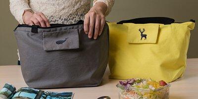 環保袋,內附保溫飽冷內袋,讓你方便使用更時尚。