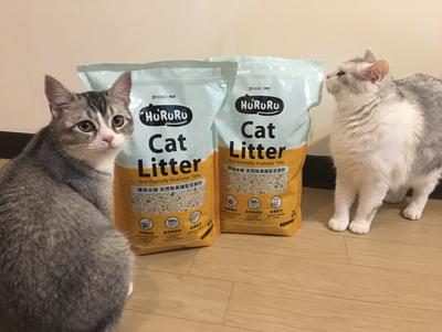 貓咪和hururu礦型豆腐砂