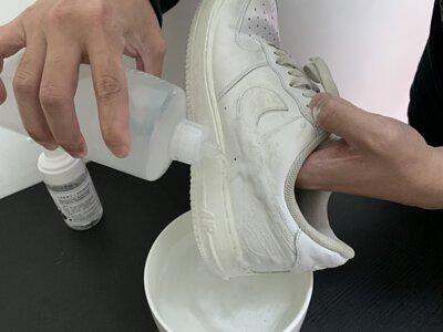 沖洗airforce鞋子