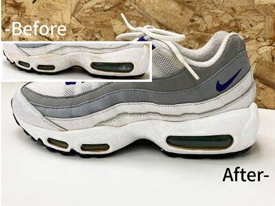 白鞋泛黃補色組使用前後對比