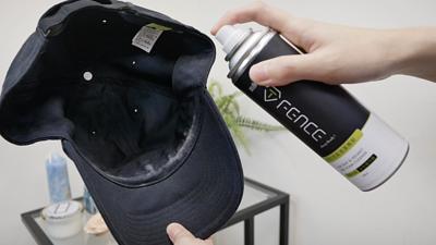 乾洗慕斯清潔帽子步驟1
