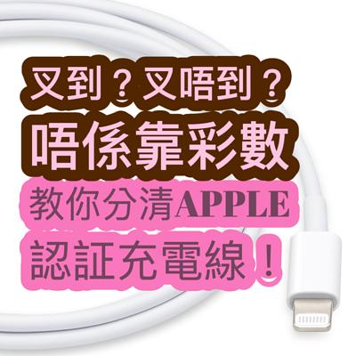 叉到?叉唔到?唔係靠彩數!教你分清Apple 認証充電線!