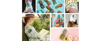 鳳梨,熱帶水果,夏天,SUMMER,鳳梨帽子,鳳梨洋裝,鳳梨泳衣,鳳梨紋身,鳳梨圖案,鳳梨裝飾,紋身,紋身貼紙,手帳,卡片