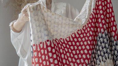 mii- 法國-圍巾-手工-織品