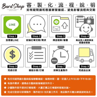 bardshop 客製化流程