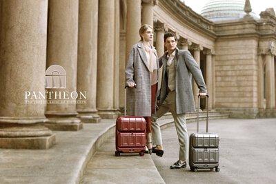 PANTHEON 專利前開雙口袋行李箱