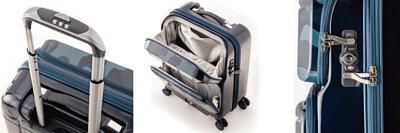 PANTHEON 專利前開雙口袋行李箱 功能