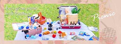 野餐行李箱,可裝物品方便推行、拿取