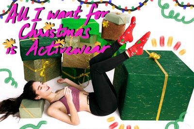 Christmas, fall, crop top, activewear, athleisure, yoga, outdoors, wellness, holiday
