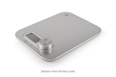 battery-free kitchen scale