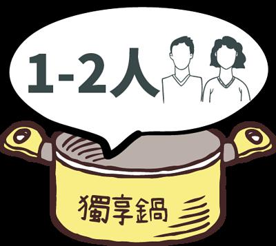 1~2人獨享鍋