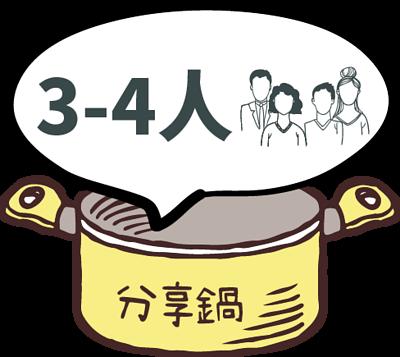 3~4人分享鍋