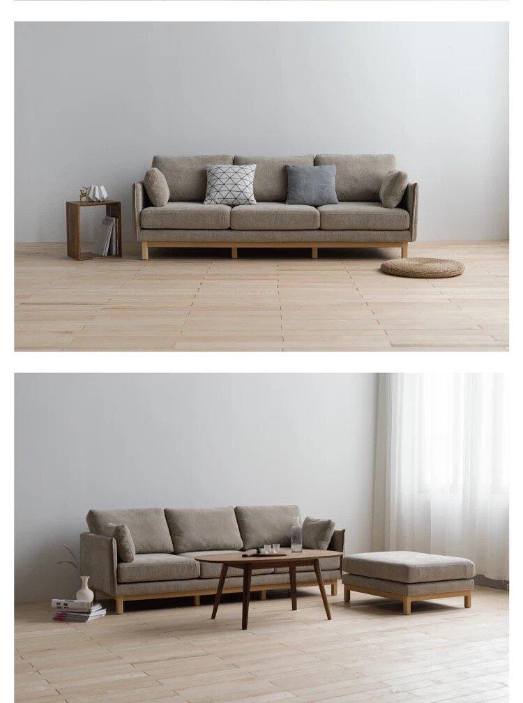 Superb Lushan Workshop Cloth Sofa Detachable Elm Back Sofa Triple Quadruple Sofa Chaise Lounge Lamtechconsult Wood Chair Design Ideas Lamtechconsultcom